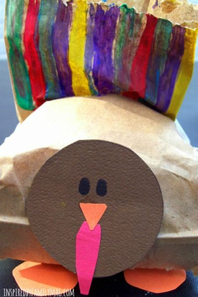 Thanksgiving Turkey Craft and Treat Bag