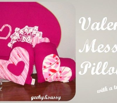 Valentines Message Pillow