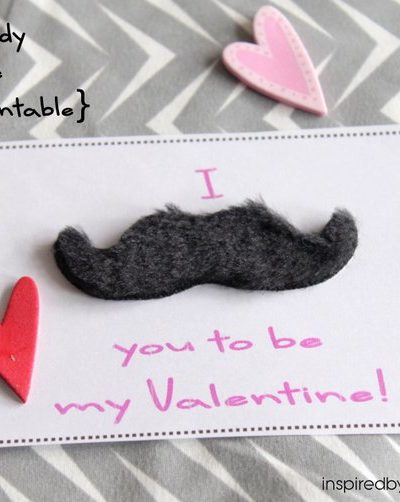 Non-Candy Valentines: I Mustache You…