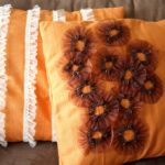 Easy No Sew Ruffled Pillows