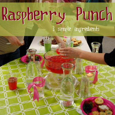 Get Your Punch On! 3 Ingredient Raspberry Punch