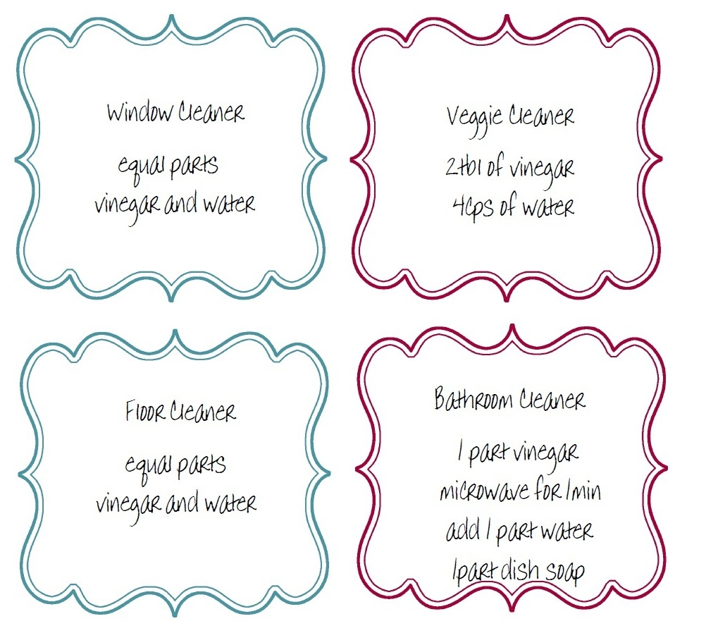 Amp labels for your homemade cleaning products inspired by familia