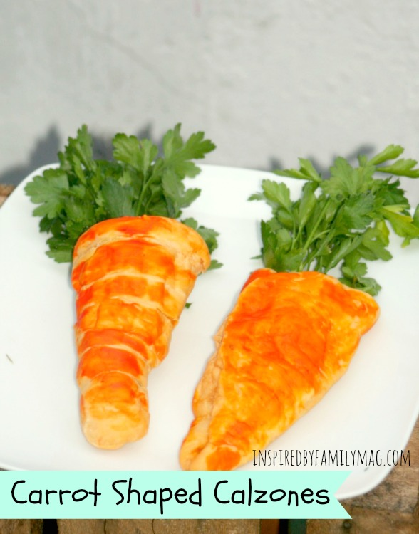 carrot shaped calzones