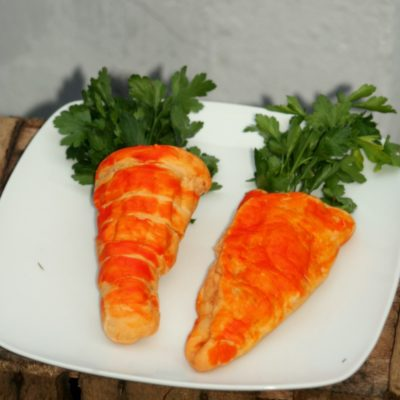 Fun Spring Food: Carrot Shaped Calzone