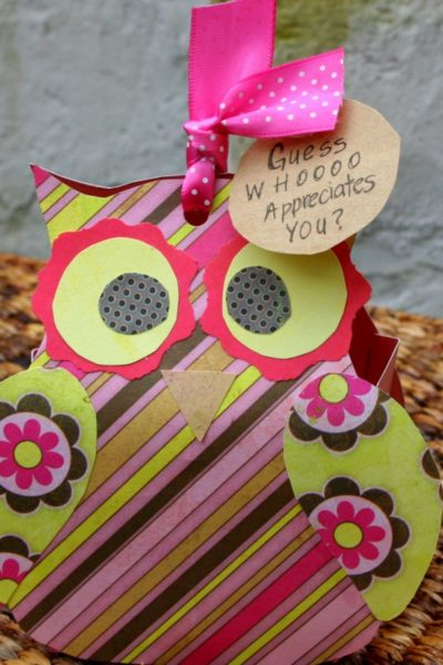 Paper Owl Teacher Gift