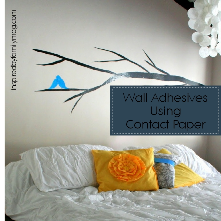 Wall Decals Using Contact Paper Inspired By Family