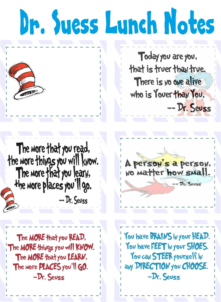 dr seuss lunch notes