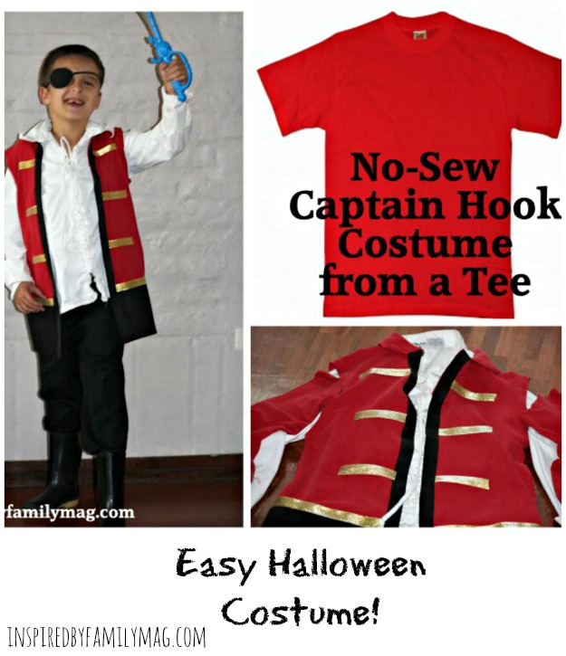 How to make a no sew captain hook costume from a t shirt no sew captain hook costume solutioingenieria