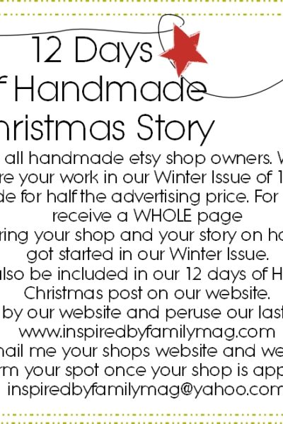 12 Days of Handmade Christmas Story