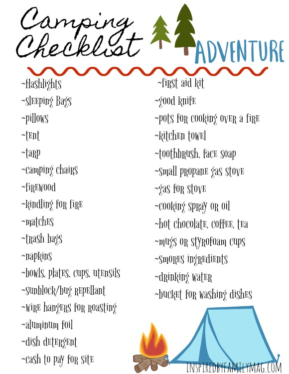 Camping With Kids Packing Check List And Tips