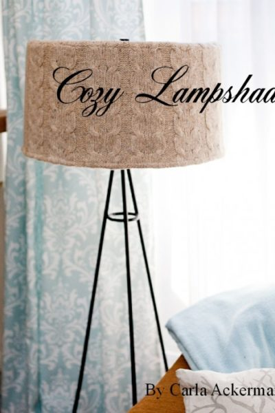 Recycled Sweater Crafts: Project #2 Sweater Lampshade