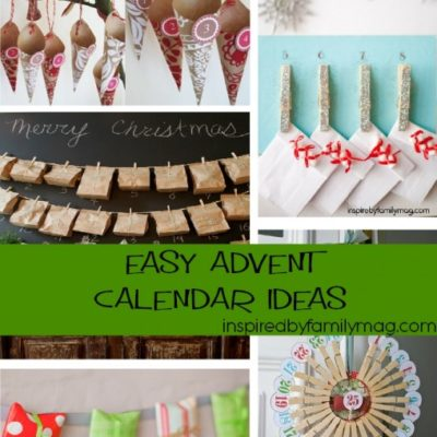 5 Easy Christmas Advent Calendar Ideas