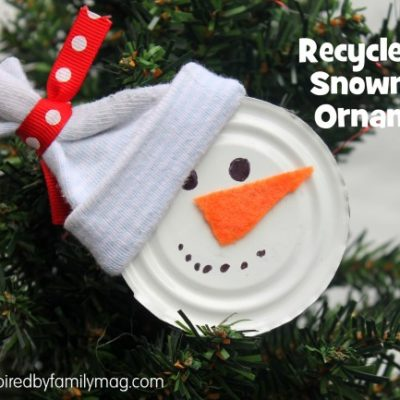Recycled Christmas Ornament Craft: Snowman