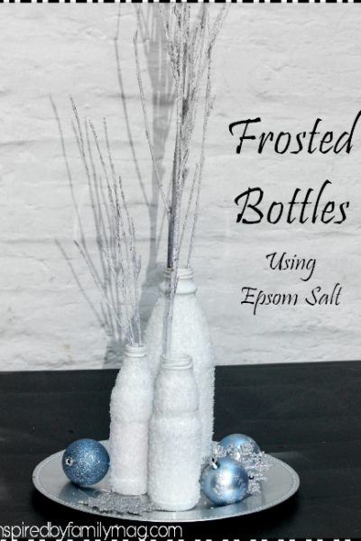 Home Decor: Frosted Bottles Using Salt