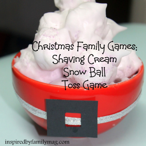 Shaving Cream Snow Ball Toss Game