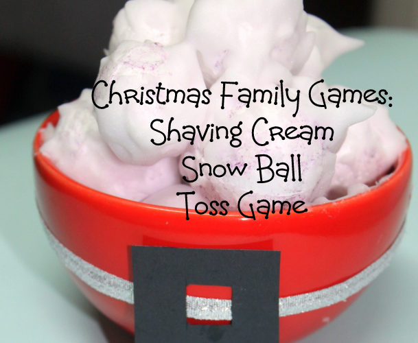 A Fun & Simple Christmas Family Game Your Kids Will Love: Snowball Toss