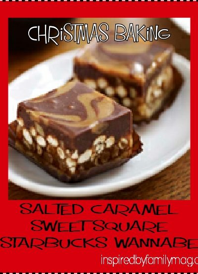 Christmas Baking: Salted Caramel Sweet Squares {Starbucks Inspired}