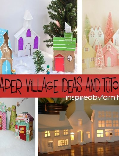 DIY Christmas Village Craft: From Paper Bags