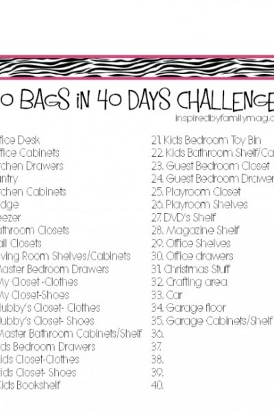 Organize & Declutter: 40 Bags in 40 Days Challenge