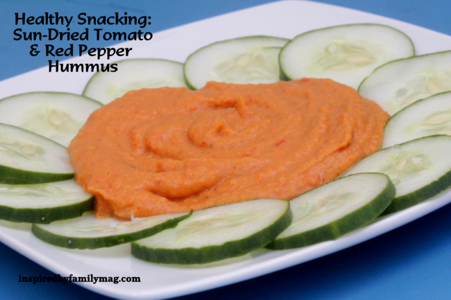 Sun-Dried Tomato & Roasted Red Pepper Hummus | Inspired by ...
