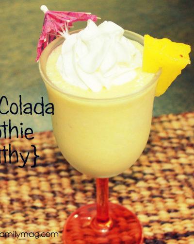 Piña Colada Smoothie {healthy}