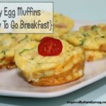 Easy Egg Muffin {healthy to go breakfast}
