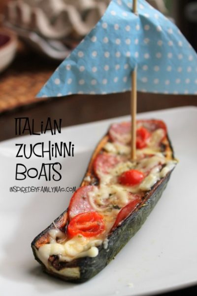 Kid Friendly Veggies: Italian Zucchini Boats