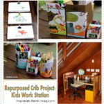 Repurposed Crib Project: Kids Work Station