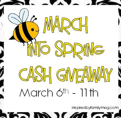 March Into Spring Cash Giveaway