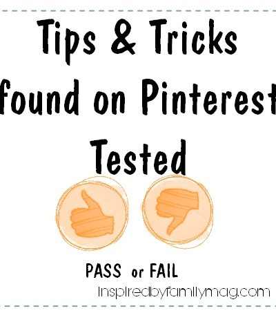 Pinterest Household Tips & Tricks Tested: Pass or Fail
