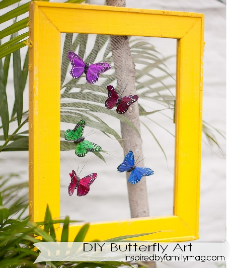 Arts And Crafts For Home Decor: Easy DIY Home Decor Project: Butterfly Art