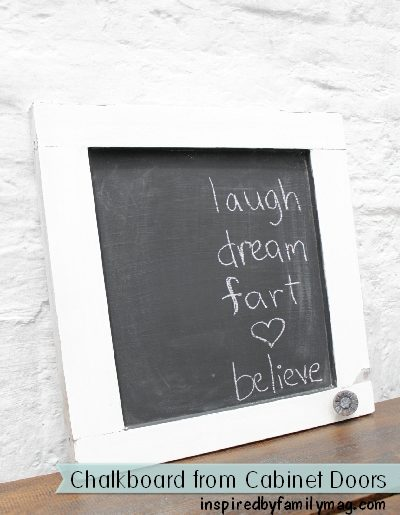 DIY Home Decor: Chalkboard from a Cabinet Door