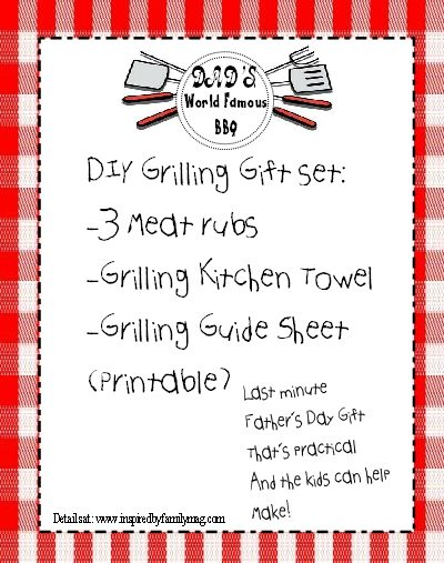 Father's Day: DIY Grilling Gift Set