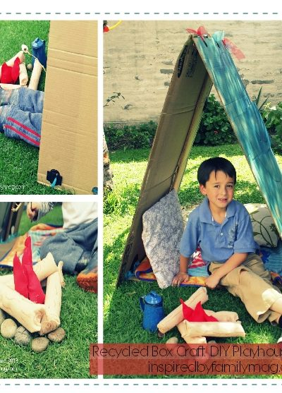 DIY Recycled Box Playhouse Tent