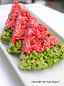 Simple Summer Dessert: Watermelon Rice Krispie Treats