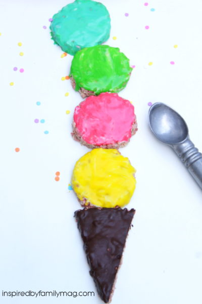 Simple Summer Treat: Ice Cream Cone Rice Krispie Treats