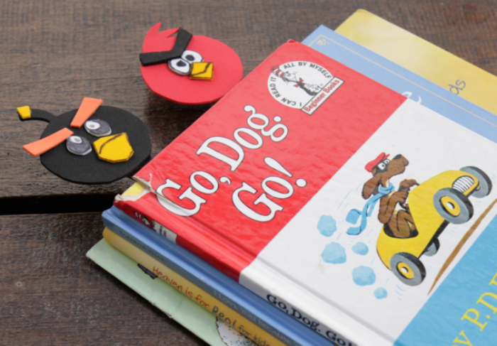 angry bird diy bookmarks