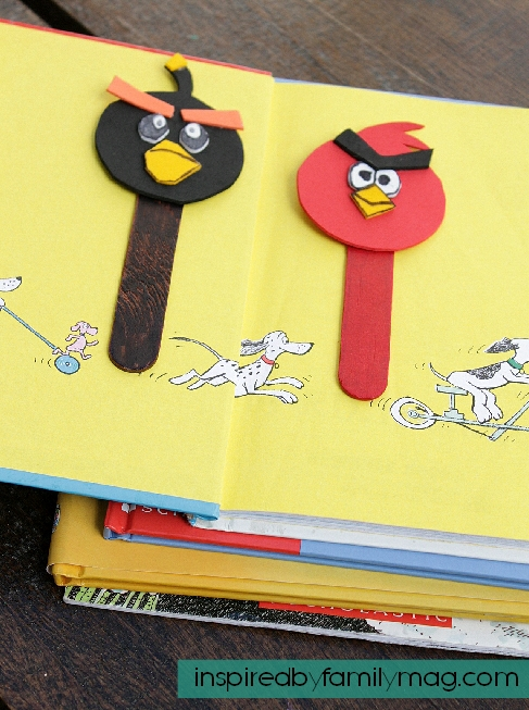 Angry birds craft bookmarks for kids inspired by family for Bookmark craft for kids