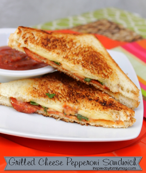grilled cheese pepperoni sandwich