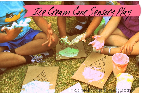 ice cream sensory play activity