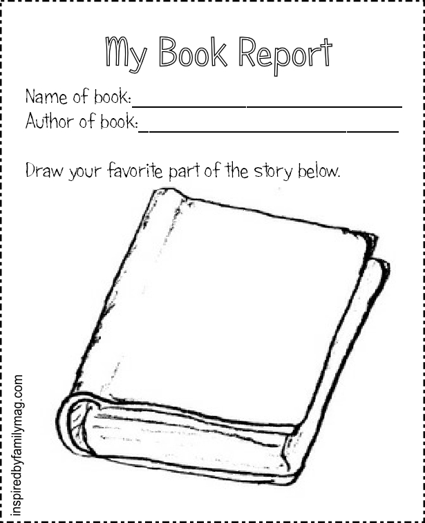 Nice My Book Report Blank Form  Printable Book Report Forms