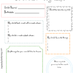 Get to Know My Child Printable