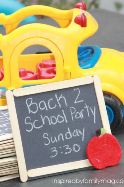 Back to School Party: Chalkboard Invitations