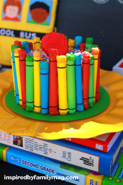 Back to School Party: Easy Crayon Cake