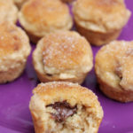 Mini Nutella Stuffed Cinnamon Sugar Muffins (Skinny)