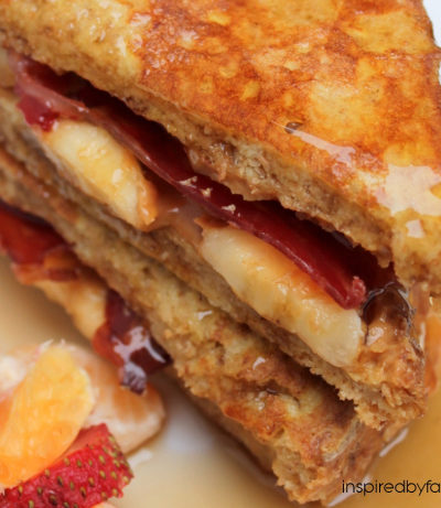 The Elvis Peanut Butter, Banana & Bacon French Toast Sandwich