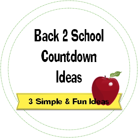 back to school countdown ideas