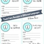 Tooth Fairy Receipt Printables {In Different Languages}