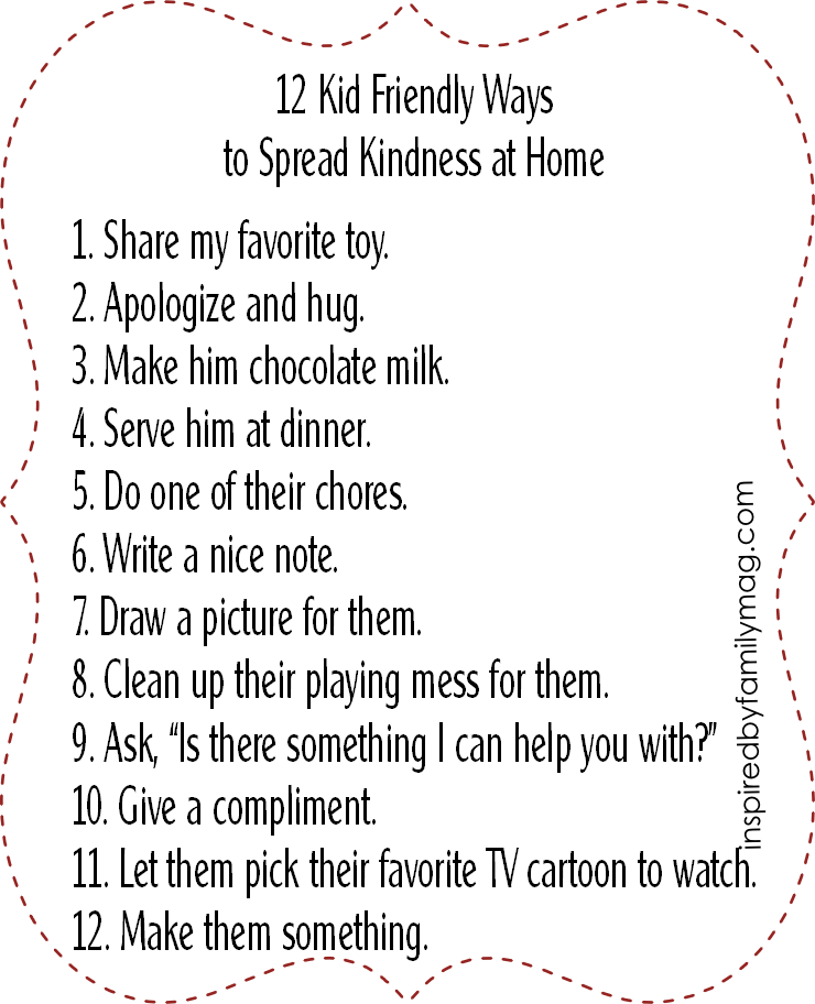 12 kid friendly ways to spread kindness at home