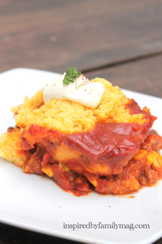Tamale Pie with Chipotle Cheddar Cornbread